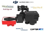 2 Axis Micasense RedEdge M + Flir Duo Pro R Dual NDVI Camera Stabilizer for DJI Matrice 200 M200
