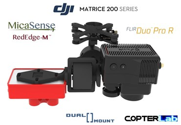 2 Axis Micasense RedEdge M + Flir Duo Pro R Dual NDVI Camera Stabilizer for DJI Matrice 210 M210