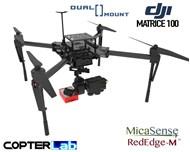 2 Axis Micasense RedEdge M + Flir Duo Pro R Dual NDVI Camera Stabilizer for DJI Matrice 100 M100