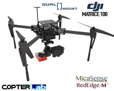 2 Axis Micasense RedEdge M + Flir Duo Pro R Dual NDVI Camera Stabilizer for DJI Matrice 100 M100