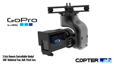 3 Axis GoPro Hero 2 Micro Camera Stabilizer