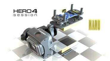 2 Axis GoPro Hero 5 Session Nano Camera Stabilizer