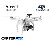 2 Axis Parrot Sequoia+ Micro NDVI Camera Stabilizer for DJI Phantom 3 Advanced