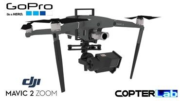 2 Axis GoPro Hero 4 Nano Camera Stabilizer for DJI Mavic 2 Zoom