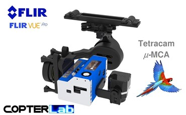 2 Axis Tetracam Micro MCA 6 + Flir Vue Pro NDVI Camera Stabilizer