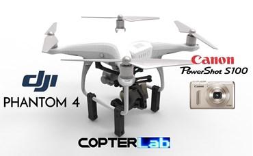 2 Axis Canon Powershot S100 Camera Stabilizer for DJI Phantom 4 Pro v2