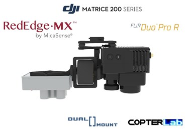 2 Axis Micasense RedEdge MX + Flir Duo Pro R Dual NDVI Camera Stabilizer for DJI Matrice 200 M200