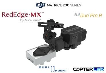 2 Axis Micasense RedEdge MX + Flir Duo Pro R Dual NDVI Camera Stabilizer for DJI Matrice 210 M210