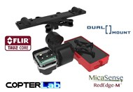 2 Axis Micasense RedEdge MX + Flir Vue Pro R Dual NDVI Camera Stabilizer for DJI Matrice 600 M600 pro