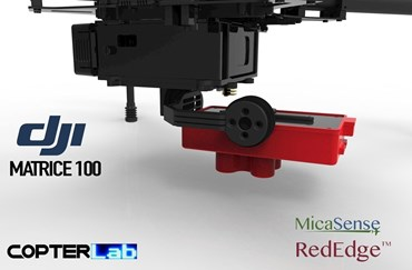 2 Axis Micasense RedEdge MX Micro NDVI Camera Stabilizer for DJI Matrice 100 M100