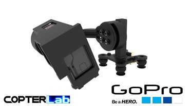 2 Axis GoPro Hero 2 Top Mounted Micro FPV Camera Stabilizer