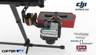 2 Axis Micasense RedEdge RE3 + Flir Tau 2 Dual NDVI Camera Stabilizer for DJI Matrice 600 M600 pro