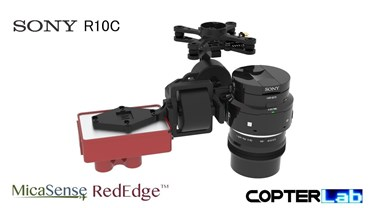 2 Axis Micasense RedEdge RE3 + Sony R10C Dual NDVI Camera Stabilizer for DJI Matrice 210 M210
