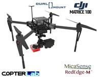 2 Axis Micasense RedEdge MX + Flir Duo Pro R Dual NDVI Camera Stabilizer for DJI Matrice 100 M100