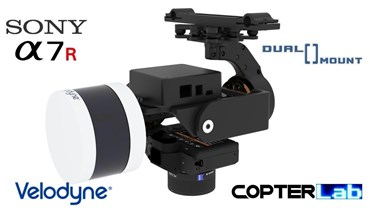 2 Axis Sony A7R + Velodyne Puck Lidar Hi-Res VLP-16 Dual Camera Stabilizer
