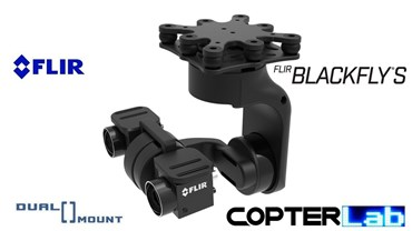 3 Axis Flir Blackfly Stereo Dual Camera Stabilizer