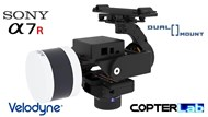 2 Axis Sony A7S + Velodyne ULTRA PUCK Lidar VLP-32C Dual Camera Stabilizer