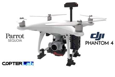 2 Axis Parrot Sequoia+ Micro NDVI Camera Stabilizer for DJI Phantom 4 Standard