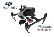 2 Axis Micasense RedEdge M Micro NDVI Camera Stabilizer for DJI Inspire 2