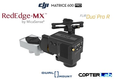 2 Axis Micasense RedEdge MX + Flir Duo Pro R Dual NDVI Camera Stabilizer for DJI Matrice 600 Pro