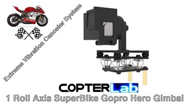 1 Roll Axis GoPro Hero 4 Camera Stabilizer for SuperBike Road Bike Motorcycle Edition