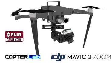 2 Axis Flir Tau 2 Nano Camera Stabilizer for DJI Mavic 2 Zoom