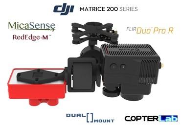 2 Axis Micasense RedEdge M + Flir Duo Pro R Dual NDVI Camera Stabilizer for DJI Matrice 300 M300