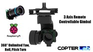 3 Axis Raspberry Pi High Quality HQ Camera Micro Camera Stabilizer