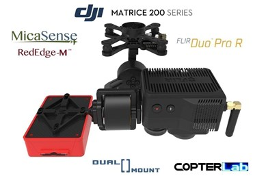 2 Axis Micasense RedEdge RE3 + Flir Duo Pro R Dual NDVI Camera Stabilizer for DJI Matrice 200 M200