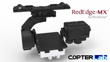 1 Axis Micasense RedEdge MX Red Blue Dual Duo Cameras NDVI With Flir Duo Pro Camera Stabilizer